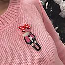 Женский вязаный свитер с шерстью и акрилом 33dis218, фото 2