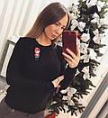 Женский вязаный свитер с шерстью и акрилом 33dis218, фото 3