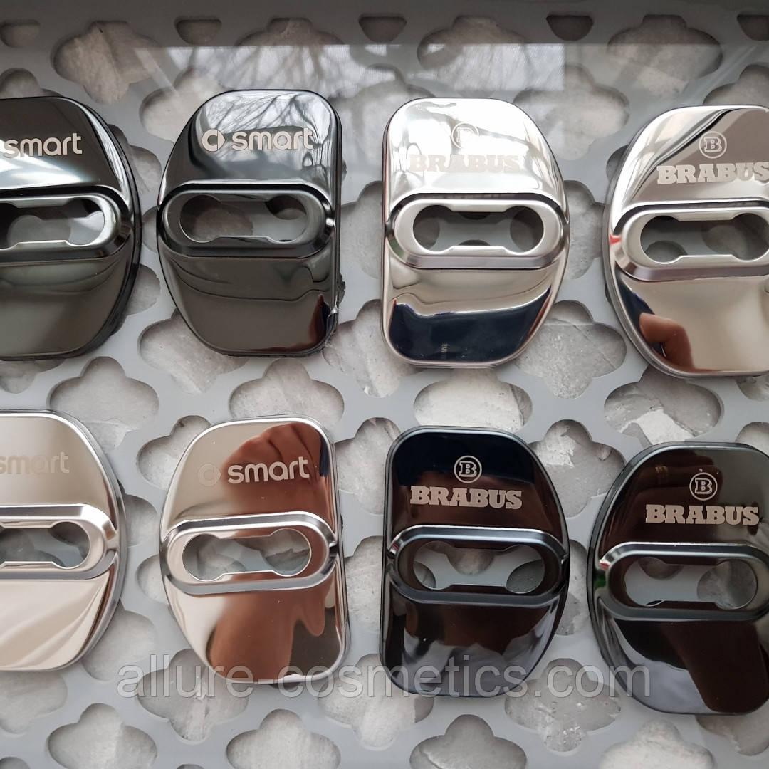 Стальные накладки на дверные петли замки smart Brabus