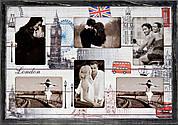"""Фоторамка коллаж """"London"""" 38х53 см (W6-103)"""
