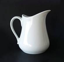 Кувшин керамический белый 1,3 л 17 см