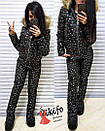 Женский теплый зимний костюм металлик с мехом на капюшоне 20grk17, фото 3