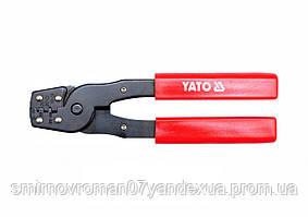 Кліщі для обтискання і зачищення проводів YATO, l= 180 мм [10/60]
