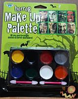 Фарба для особи horror Make Up Palette 8 кольорів, фото 1