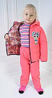 Костюм демисезонный для девочки, цвет персиковый , рост 98, фото 1