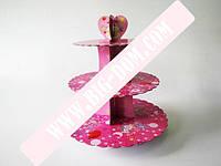 Стойка для торта картонная Праздник 20*25*30 VT6-19002