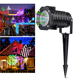 Новогодний проектор  Star shower Outdoor Motion Рисунки металлический корпус