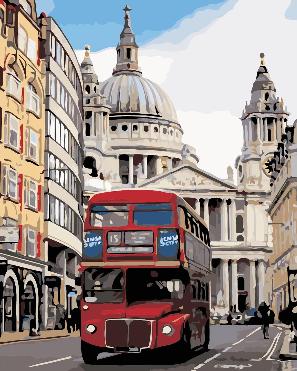 Художественный творческий набор, картина по номерам Лондонский автобус, 40x50 см, «Art Story» (AS0368)