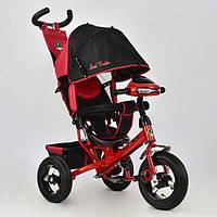 Трехколесный велосипед с фарой и ключом зажигания Best Trike 6588B-3030 красный (надувные колеса)