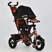 Трехколесный велосипед с фарой и ключом зажигания Best Trike 6588B-3360 бронзовый (надувные колеса), фото 1