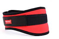 Пояс атлетический тканевой Slim красный, фото 1