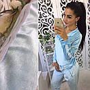 Женский велюровый спортивный костюм (юбка, штаны) 40spt199, фото 2
