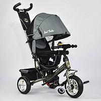 Трехколесный велосипед Best Trike 6588 - 0340 темно-серый (колеса пена)