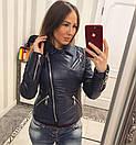 Кожаная женская куртка косуха в расцветках 33kur78, фото 2