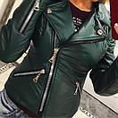 Кожаная женская куртка косуха в расцветках 33kur78, фото 3
