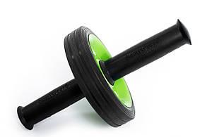 Ролик для пресса (с анатомическими ручками) зеленый