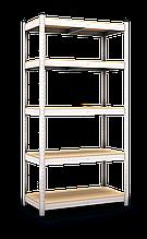 Стеллаж Бюджет (1800х900х400) оцинкованный на зацепах, 5 полок, ДСП, 175 кг/полка