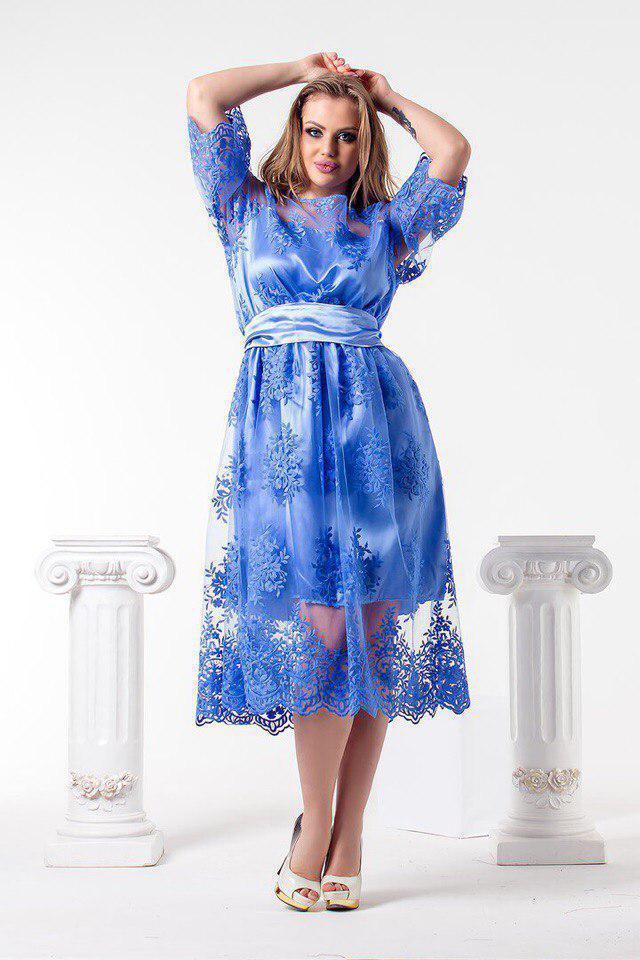Женское кружевное платье в больших размерах 53blr566