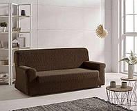 Чехол натяжной на 3х местный диван Абрил Zebra Textile Мокко