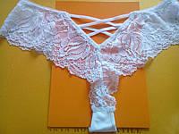 Белые трусики стринги с переплетами сзади, Coeur Joie 9836, фото 1