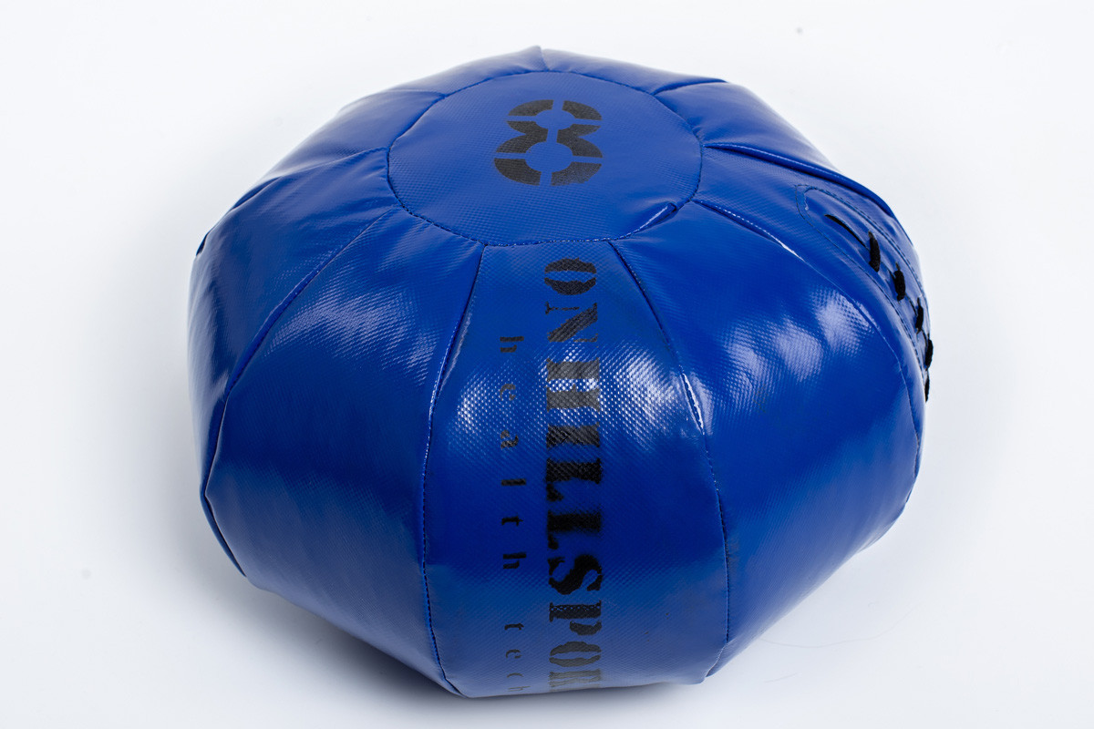 Медбол 9 кг черно-зеленый