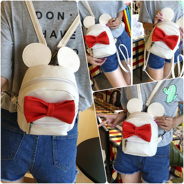 Детский рюкзак Микки с ушками бежевый