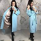 Кашемировое пальто под пояс ниже колена длиной 58pal71, фото 4