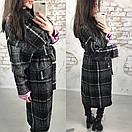 Кашемировое пальто под пояс ниже колена длиной 58pal71, фото 5