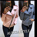 Замшевая женская куртка косуха в расцветках 52kur81, фото 3