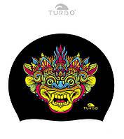 Силиконовая шапочка для плавания Turbo Bali Universe (Black)