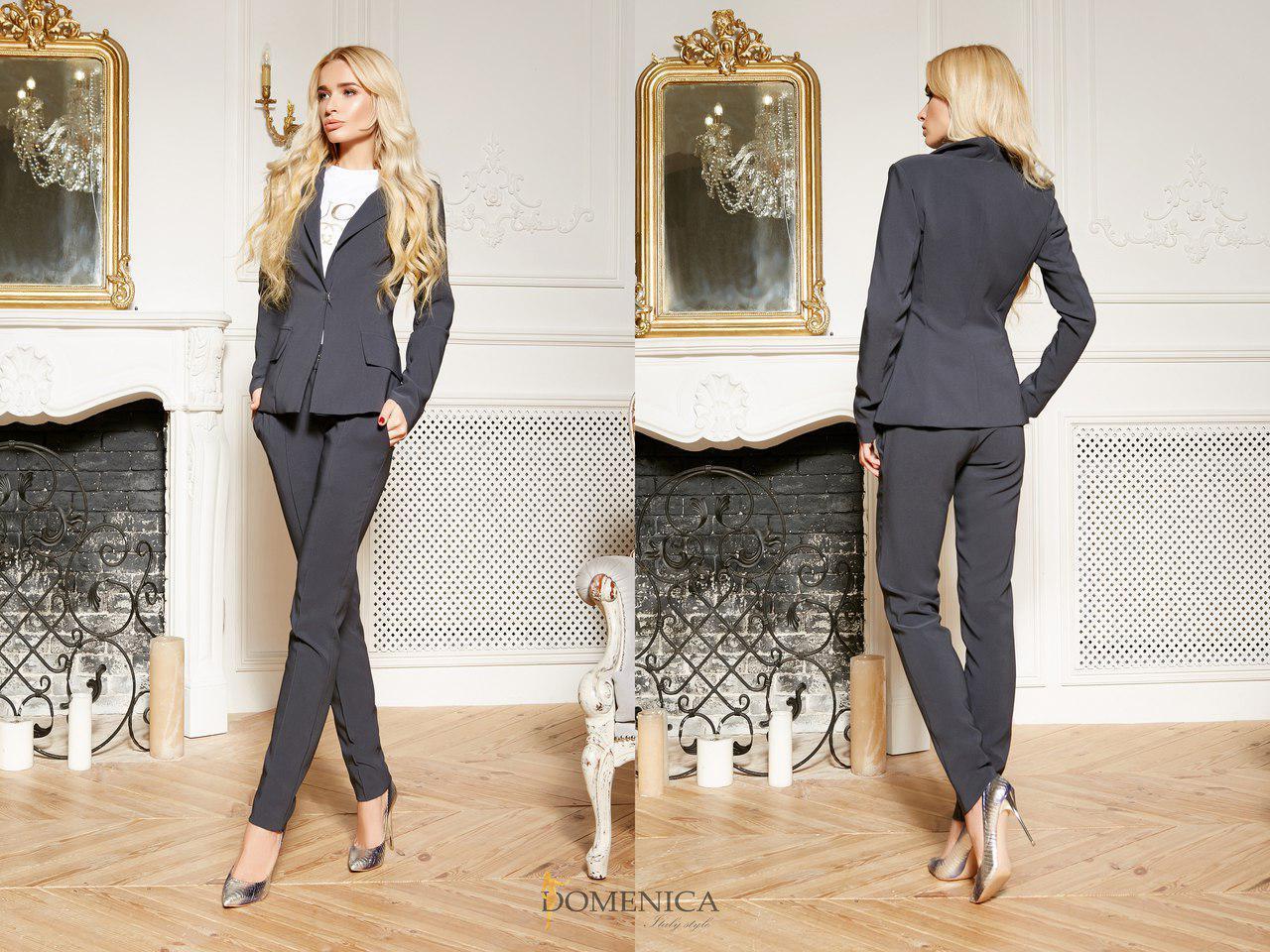 Женский классический брючный костюм с пиджаком 31kos349