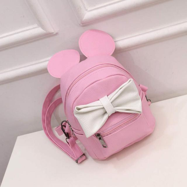 Женский рюкзак Микки с ушками розовый