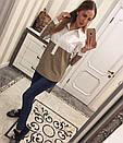 Женская прямая рубашка х/б с принтом 33bir104, фото 2