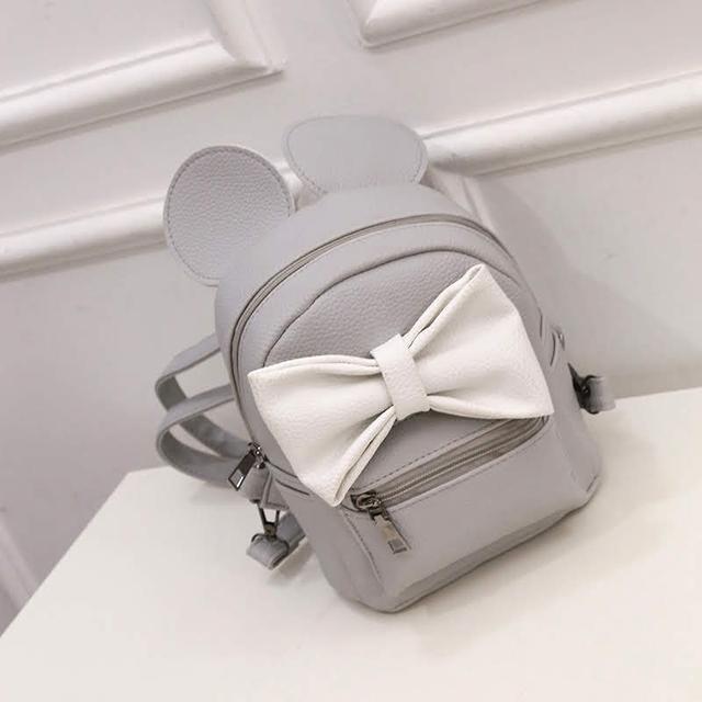 Женский рюкзак Микки с ушками серый