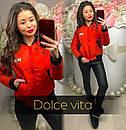 Женская демисезонная куртка на молнии в расцветках 220614, фото 4