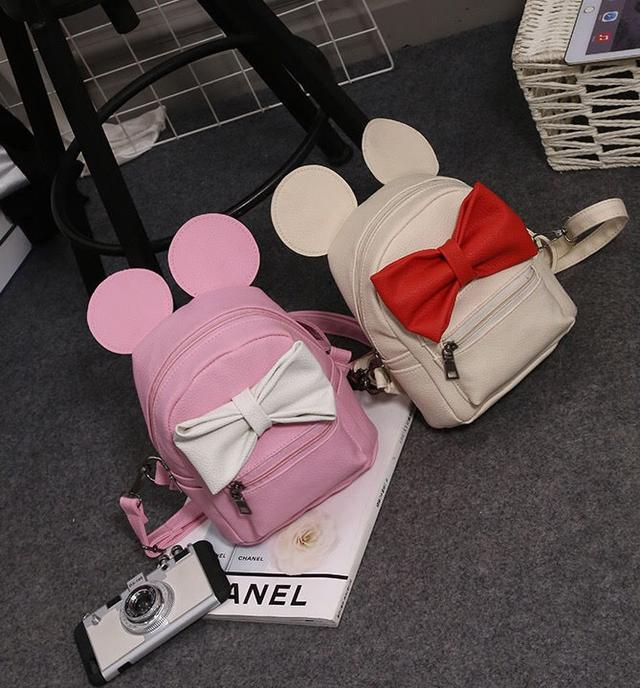 Детский рюкзак Микки с ушками и бантиком