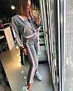 Женский спортивный костюм с укороченной мастеркой на молнии 18spt244, фото 2