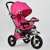 Велосипед-коляска Best Trike 698-2 с опускающейся спинкой (розовый), фото 1