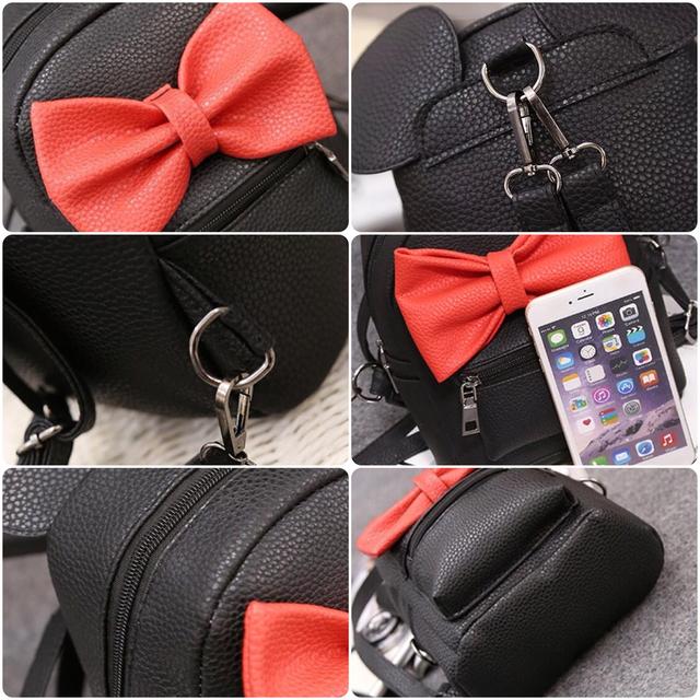 Женский рюкзак Микки с ушками детальные фото