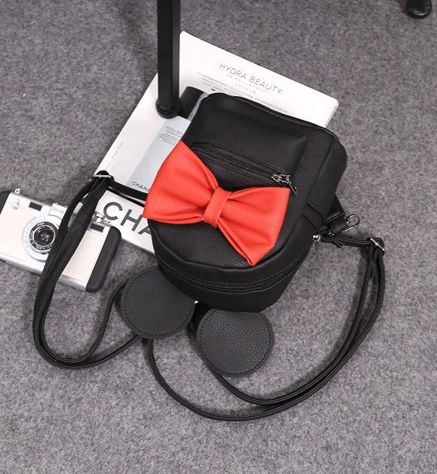 Женский рюкзак Микки с ушками и бантиком
