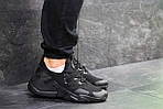 Мужские кроссовки Nike Air Huarache (черные) , фото 3