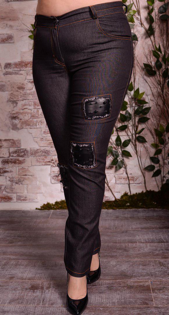 Стрейчевые женские джинсы в больших размерах 10blr603