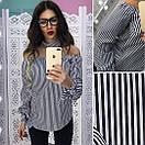 Женская рубашка в полоску и клетку с чокером 66bir127, фото 2