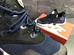 Чоловічі кросівки Nike Air Huarache (Чорно-сині), фото 2