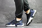 Чоловічі кросівки Nike Air Huarache (Чорно-сині), фото 4