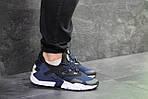Чоловічі кросівки Nike Air Huarache (Чорно-сині), фото 5