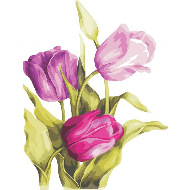 """Роспись по номерам """"Нежные тюльпаны"""" в кор. 40*50см, ТМ ArtStory Артикул: AS0329 Ухти-Тухти Кривой Рог"""