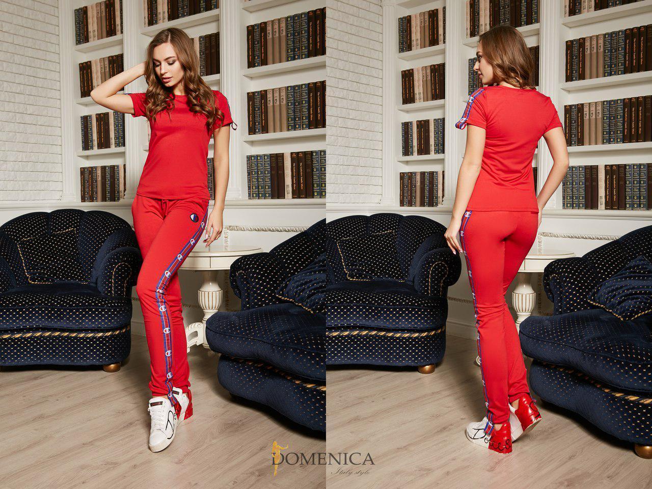 Летний женский спортивный костюм с футболкой 31spt280
