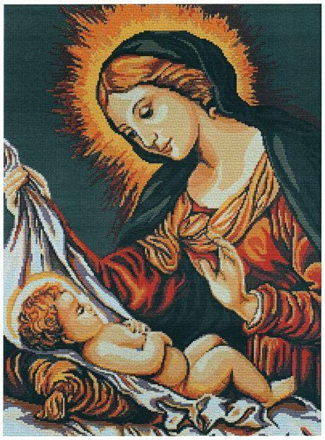 Набор для вышивания крестиком 39х28см. Божья Матерь. Luca-S