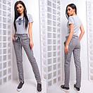 Женские прямые брюки с поясом 66bil237, фото 3